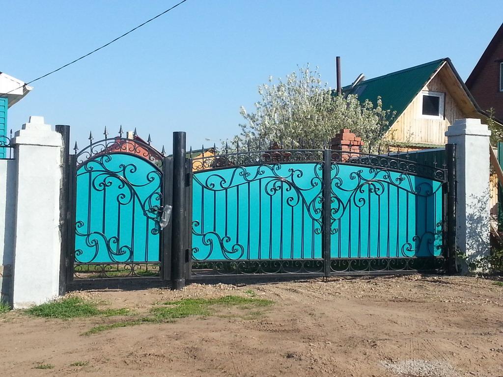 схема узора на заборе